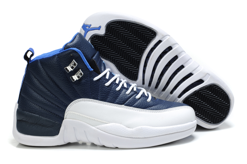 Latest Air Jordan 12 Blue White