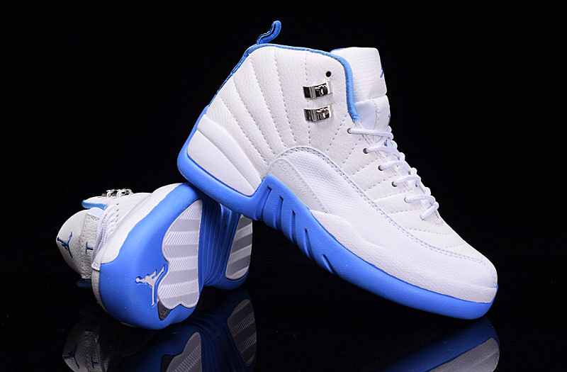 New Air Jordan 12 GS White Baby Blue Shoes