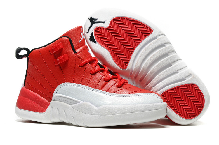 New Air Jordan 12 Gym Red Shoes For Kids