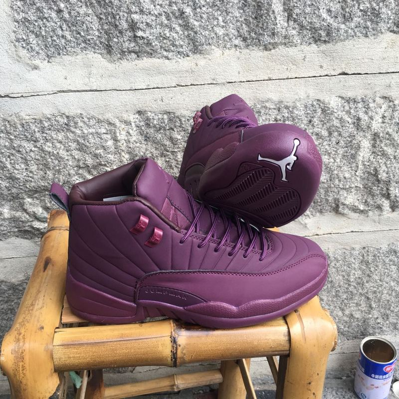 New Air Jordan 12 High Purple Shoes