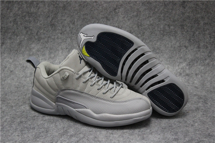 New Air Jordan 12 Low Grey Shoes