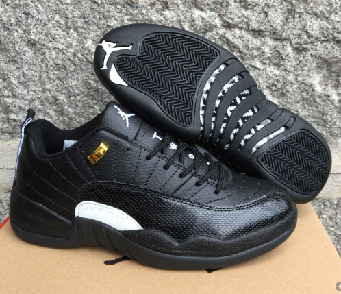 New Air Jordan 12 Low Master Black Gold Shoes