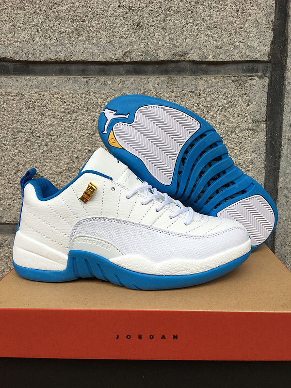 New Air Jordan 12 Low White Blue Shoes