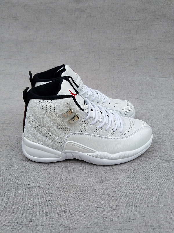 New Air Jordan 12 Retro All White Shoes