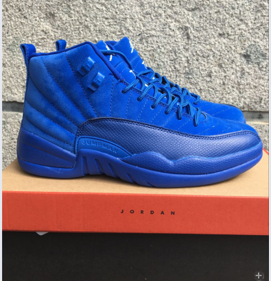 New Air Jordan 12 Retro Blue Deer Shoes