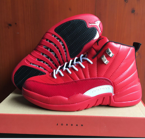 New Air Jordan 12 Retro Hot Red White Shoes
