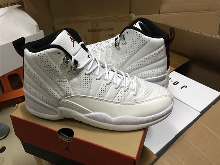 New Air Jordan 12 Retro Pure White Shoes