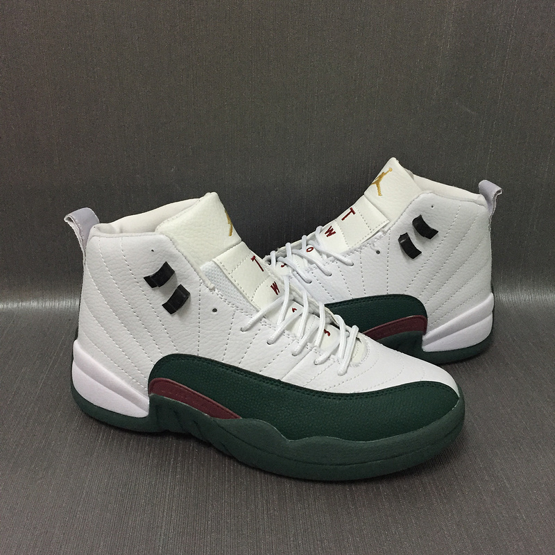 New Air Jordan 12 Retro Sea White Green Pink Shoes