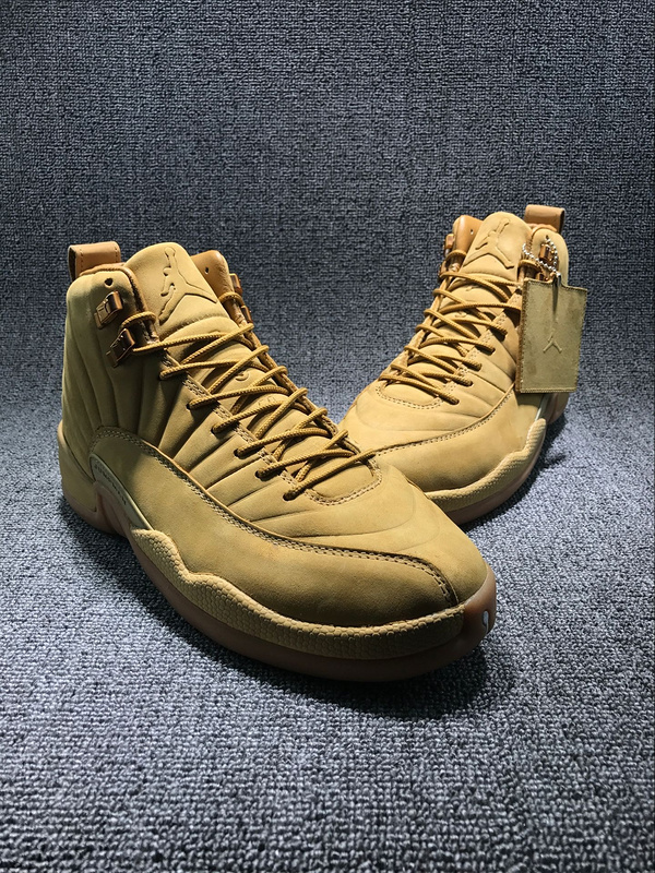 New Air Jordan 12 Wheat Yellow Shoes