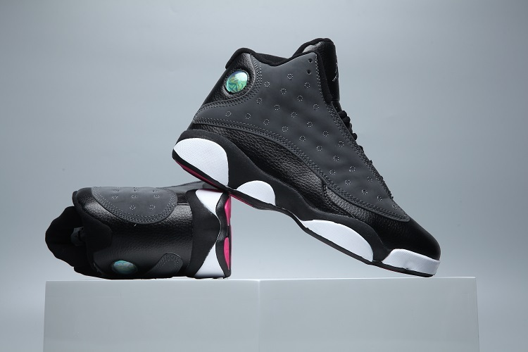 New Air Jordan 13 3M Black Peach Red Lover Shoes