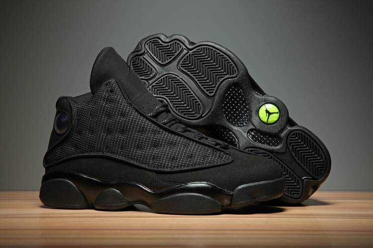 New Air Jordan 13 All Black Cat 3M Shoes