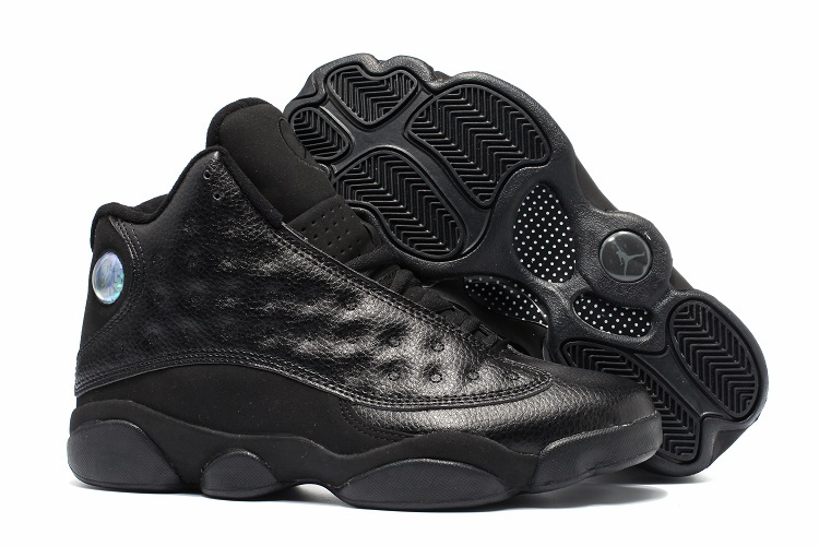 New Air Jordan 13 All Star All Black Shoes