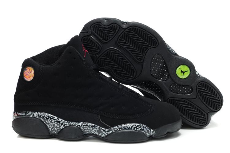 Latest Air Jordan 13 Dark Black Shoes