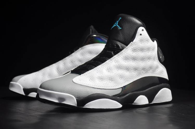 New Air Jordan 13 Earl White Black Grey Shoes