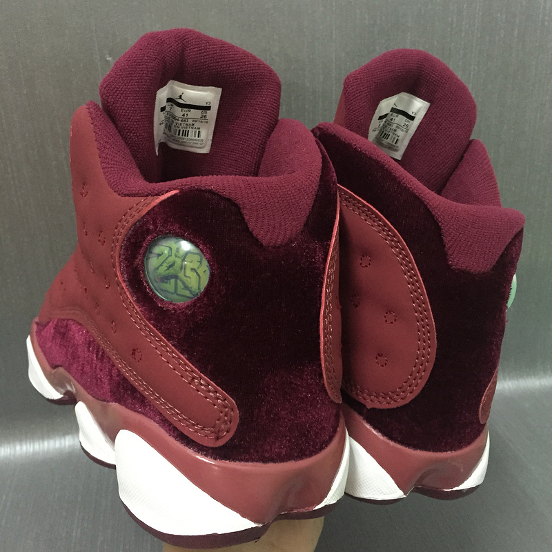 New Air Jordan 13 Heiress Wine Red Shoes