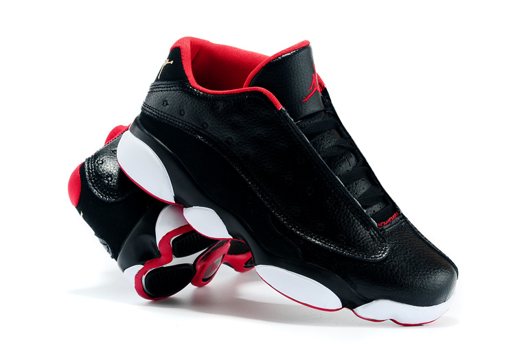 New Air Jordan 13 Low All Star Black Red White Shoes