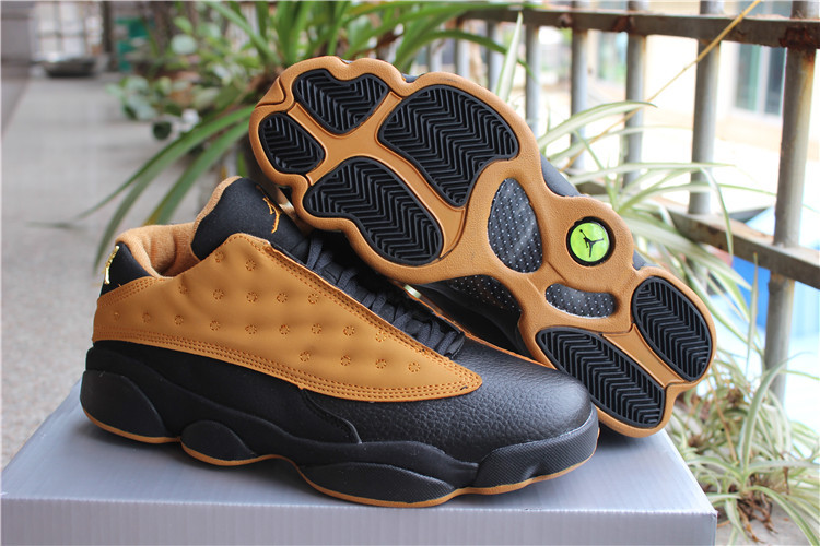 New Air Jordan 13 Low Chutney Yellow Black Shoes