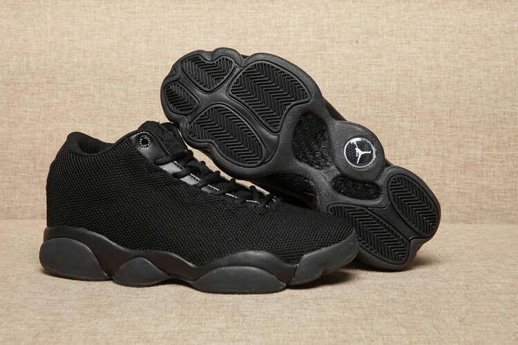 New Air Jordan 13 GS Low Flyknit All Black Shoes