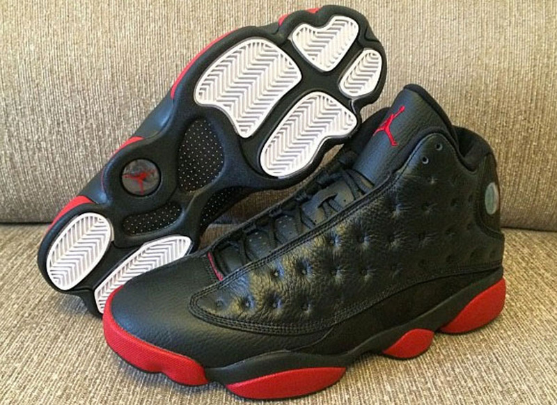 New Air Jordan 13 Retro Black Red Shoes For Women