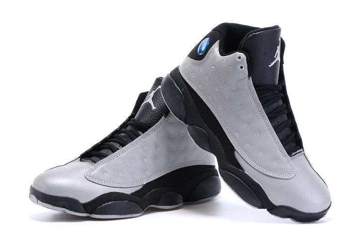 New Air Jordan 13 Retro Grey Black Shoes