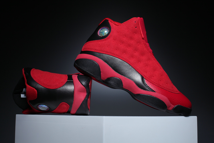 New Air Jordan 13 Retro Red Black Scratch Music Shoes