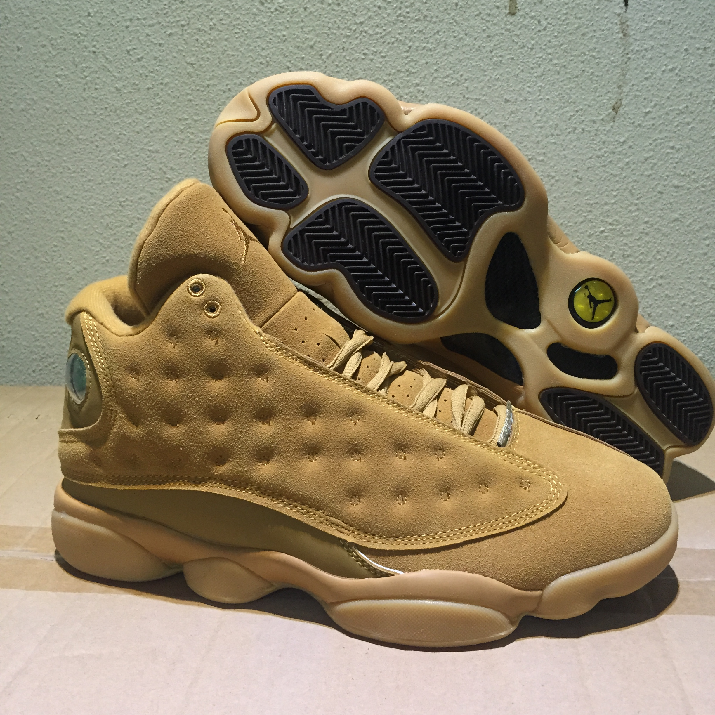 New Air Jordan 13 Wheat Yellow Shoes