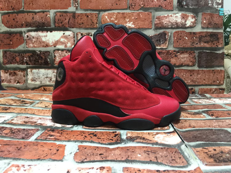 New Air Jordan 13 Wings All Red Black Shoes