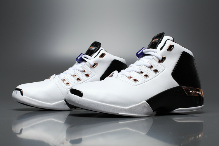 New Air Jordan 17+ White Black Red Shoes