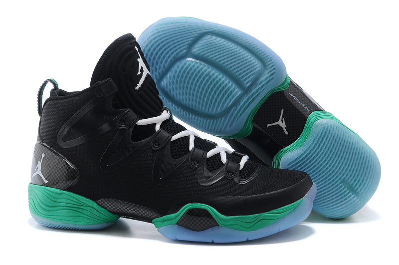 New Air Jordan 28 Black Green Shoes