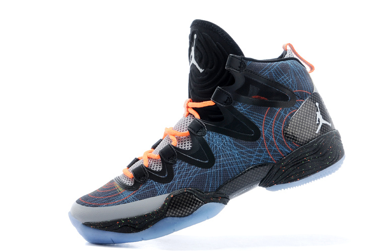 New Air Jordan 28 Blue Black Orange Shoes