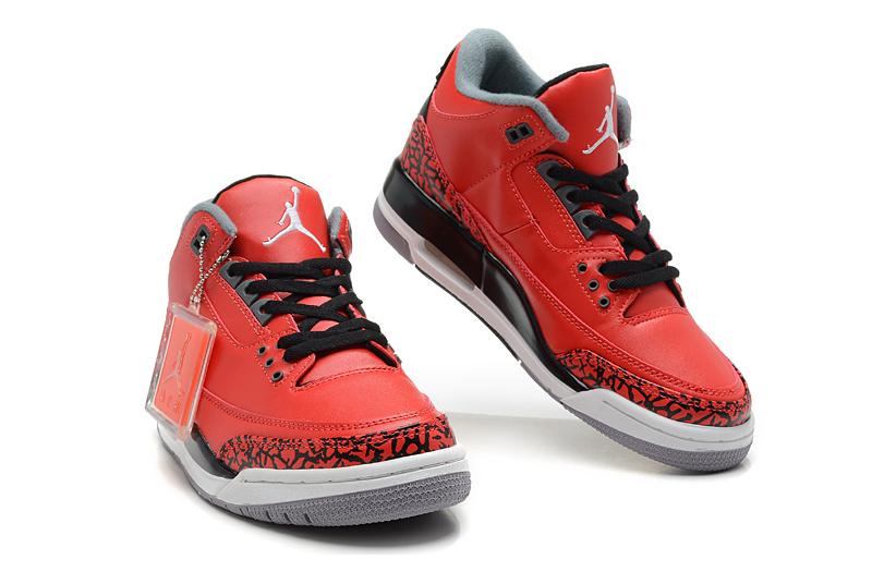 2013 Air Jordan 3 Black Red White Shoes