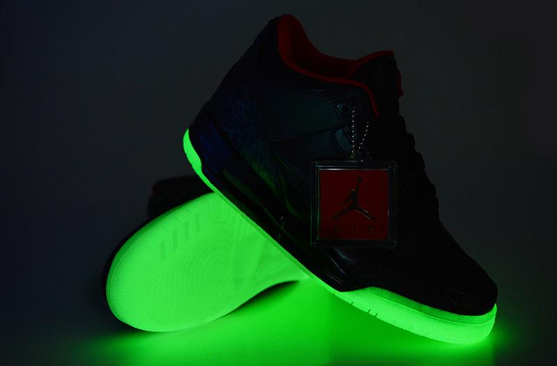2013 Air Jordan 3 Black Transparent Sole Shoes