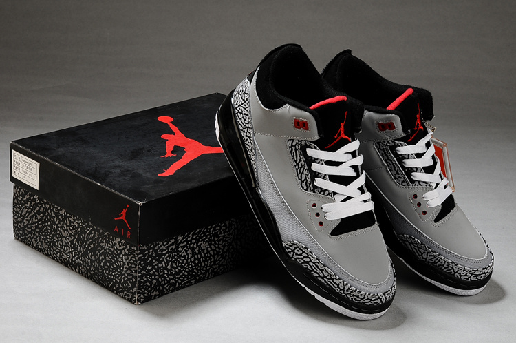 Air Jordan Retro 3 Grey Black White