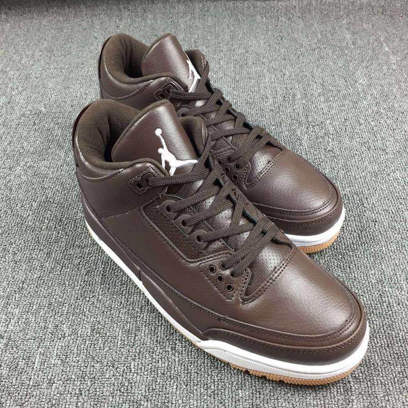 New Air Jordan 3 Retro Coffe White Shoes