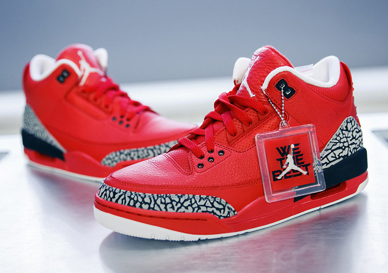 New Air Jordan 3 WE THE BEST Red Black Shoes