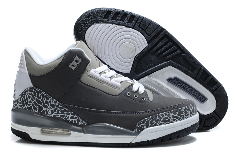 Air Jordan Retro 3 White Grey