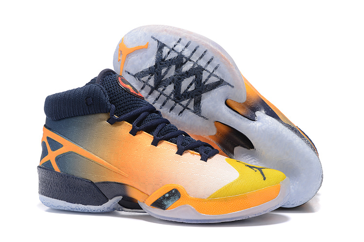 New Air Jordan 30 Westbrook Yellow Black Orange Shoes