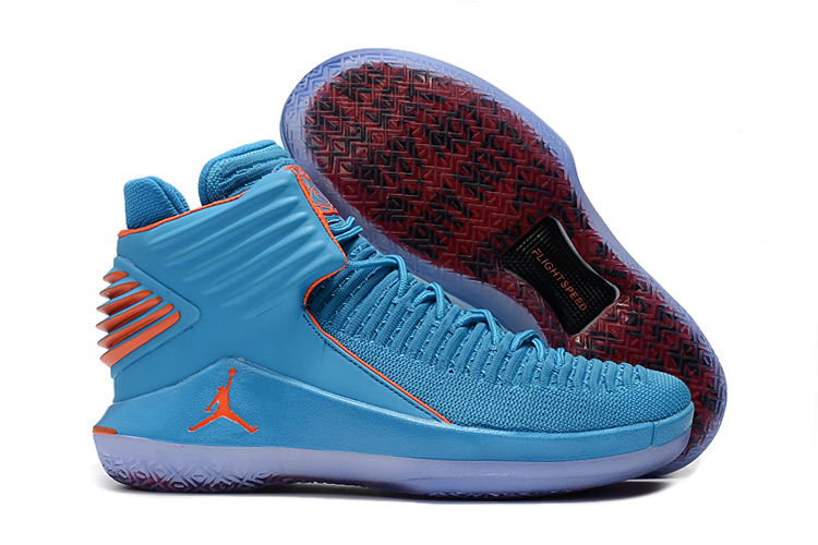New Air Jordan 32 High Jade Orange Shoes