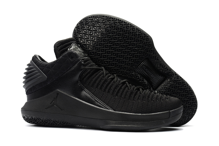 New Air Jordan 32 Low All Black Shoes