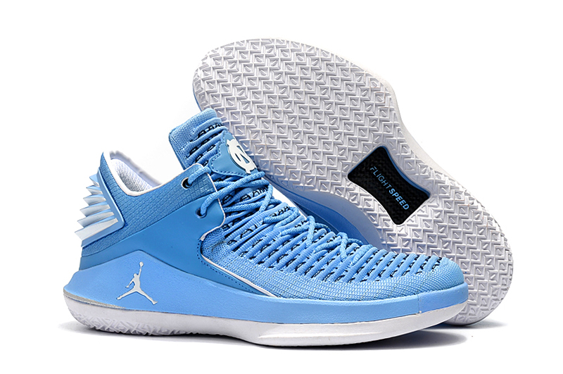 New Air Jordan 32 Low Baby Blue White Shoes