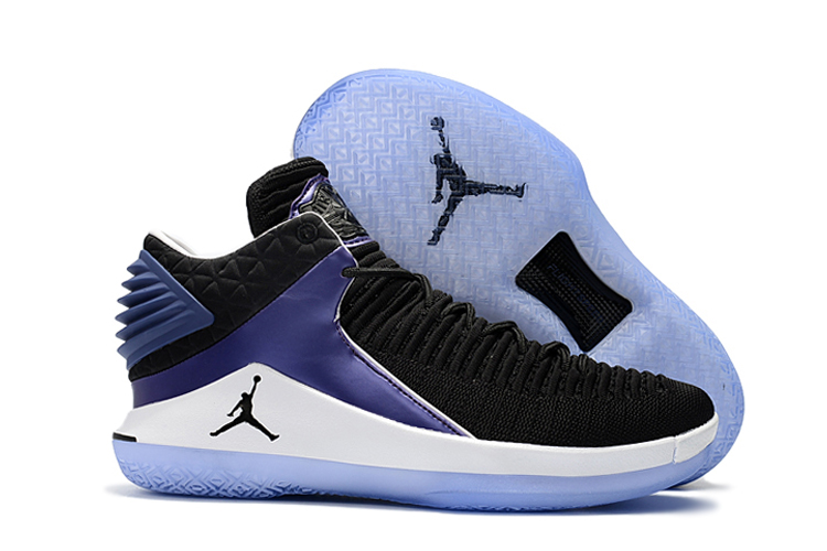 New Air Jordan 32 Low Black White Blue Shoes