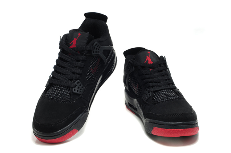 jordan 4s black and red