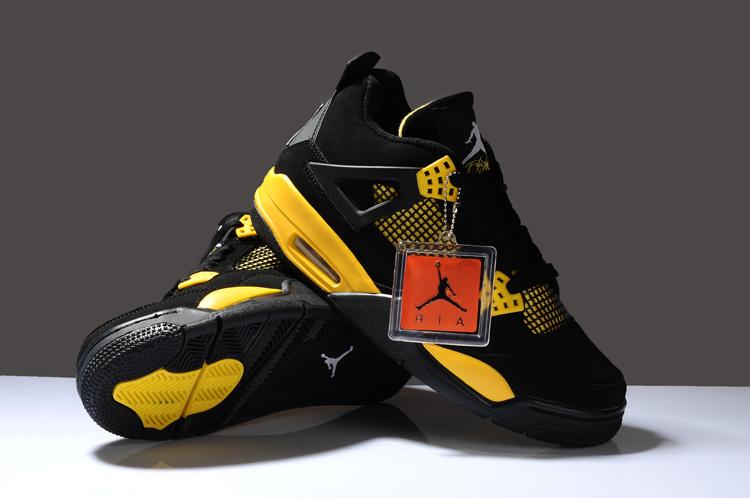 air jordan black and yellow 4th