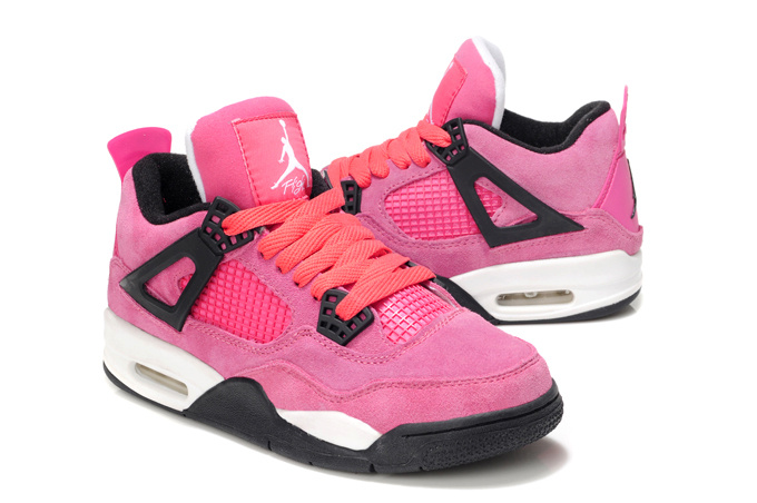 2013 Air Jordan 4 Pink White For Women