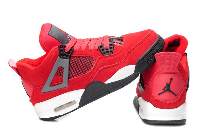 2013 Air Jordan 4 Red White For Women