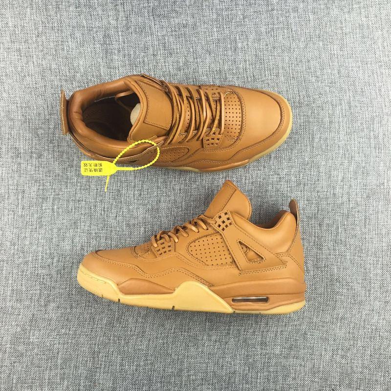 New Air Jordan 4 Retro Ginger Yellow Shoes