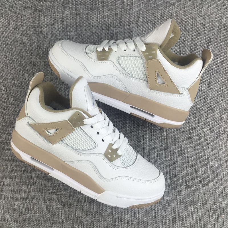 New Air Jordan 4 White Sand Shoes