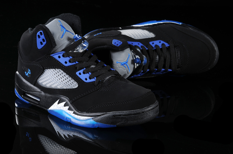 Jordan 5 Retro Black Blue White