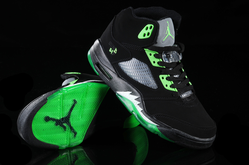 Jordan 5 Retro Black Green White