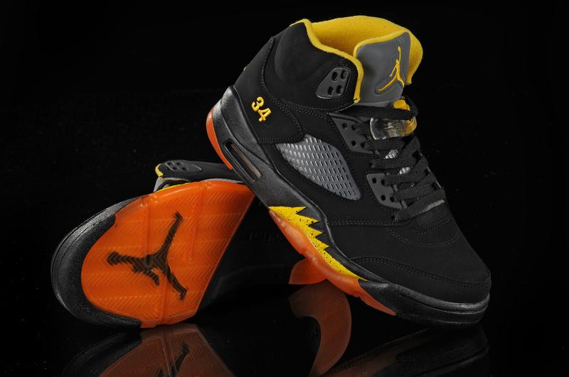 Jordan 5 Retro Black Orange Yellow
